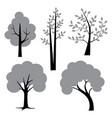 gray black trees vector image