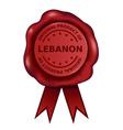 Product Of Lebanon Wax Seal vector image