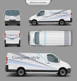 white minivan top front back side view vector image