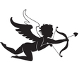 Cupid flying vector image
