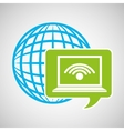 globe development technology laptop wifi vector image