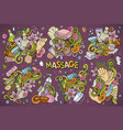 set of massage and spa designs vector image