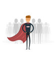 businessman standing out from the crowd business vector image