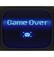 Game over tv game Skull and Crossbones vector image