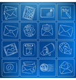mail post icons chalky doodles vector image