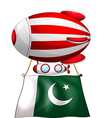 A floating balloon with the flag of Pakistan vector image