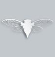 White cicada vector image