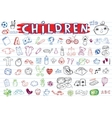 Children icon set vector image