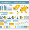 Infographics Communication People vector image