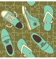 shoe wallpaper vector image vector image