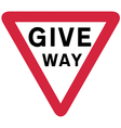 Give way sign vector image vector image