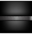 Abstract background dark and black carbon fiber vector image
