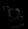 bubble hart vector image