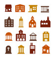 buildings icon set for web sites and user vector image