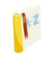 English dictionary book icon cartoon style vector image