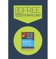 Flat Ebook free download icon vector image