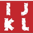 IJKL grunge letters vector image