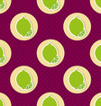Limes pattern Seamless texture with ripe limes vector image