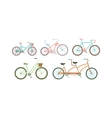 Old retro style bicycles vector image