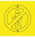 prohibited traffic sign person round icon design vector image