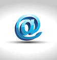 shiny blue email symbol vector image