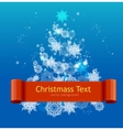 Simple Card with white Christmas tree vector image