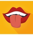 tongue out design vector image