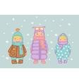 children in winter vector image