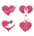 love and hand vector image