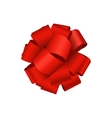 modern red bow on white vector image