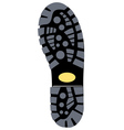 black sole boot vector image vector image