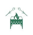 Brazier and marshmallow icon vector image