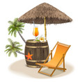 Beach Bar Concept vector image