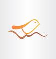 bird on branch singing song design vector image