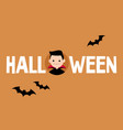 halloween conceptual sign dracula and black vector image