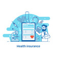 health insurance concept banner vector image