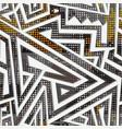 isometric geometric maze seamless pattern vector image