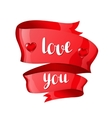 Love you Happy Valentine day greeting card with vector image