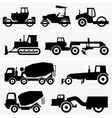 Road construction machinery vector image