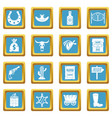 wild west icons azure vector image