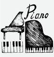 Set piano vector image vector image