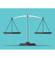 Empty scales flat style vector image