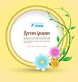 Flower frames circle vector image
