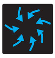 swirl arrows interface toolbar button vector image