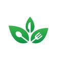 leaf restaurant eco vector image