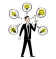 Creative businessman vector image