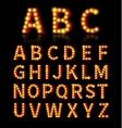 Lightbulb font vector image vector image