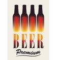 bottles of beer vector image vector image
