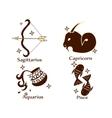 Zodiac tattoo stencil vector image