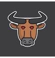 Angry bull head mascot vector image